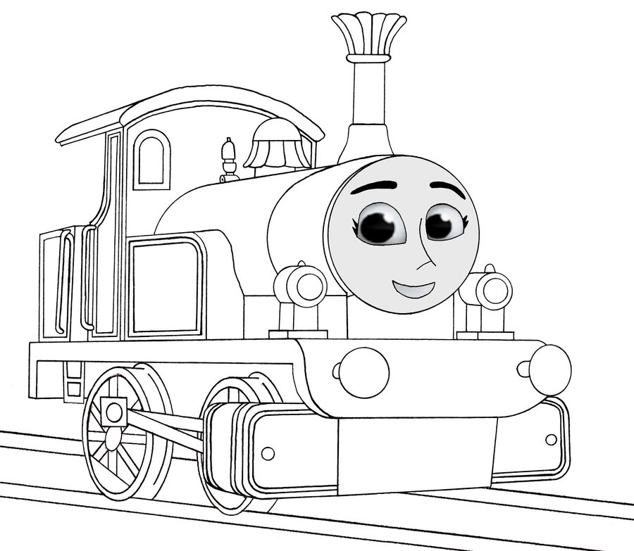 Thomas the tank engine coloring pages for Thomas the train color page