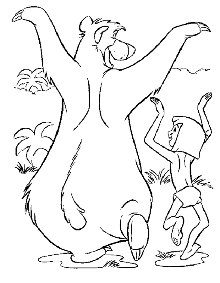 jungle book coloring pages - Jungle Book Coloring Pages