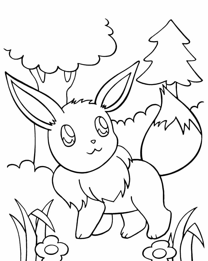 Spirit Coloring Pages Eevee Evolutions Coloring Coloring Pages