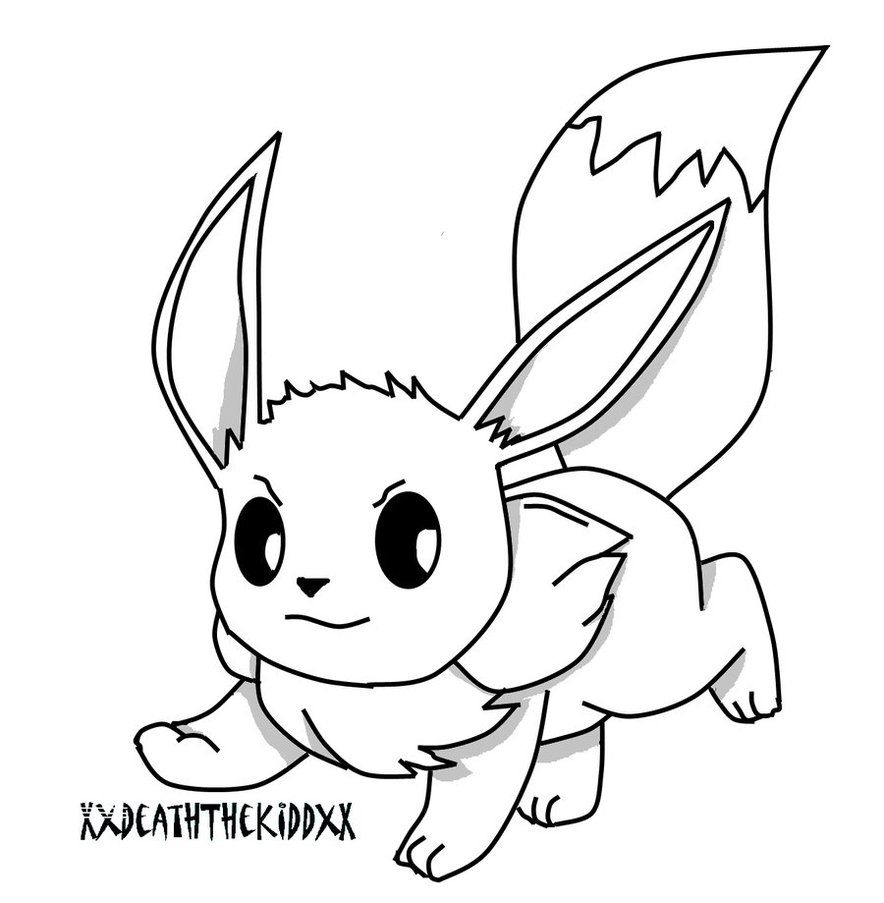 Pokemon coloring pages all eevee evolutions - Eevee Coloring Pages