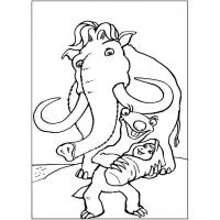 Ice age coloring pages