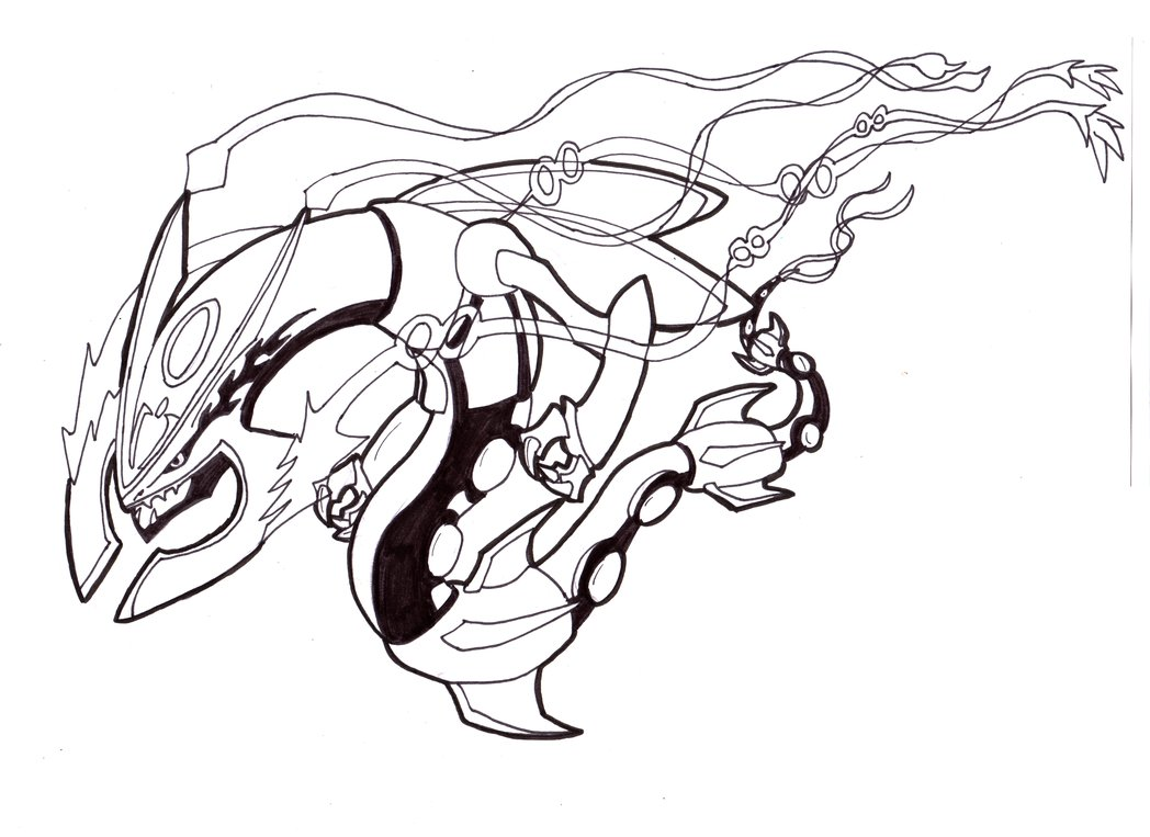 Pokemon coloring pages mega sceptile - How To Draw Pokemon Mega Rayquaza Solution For How To For Dummies