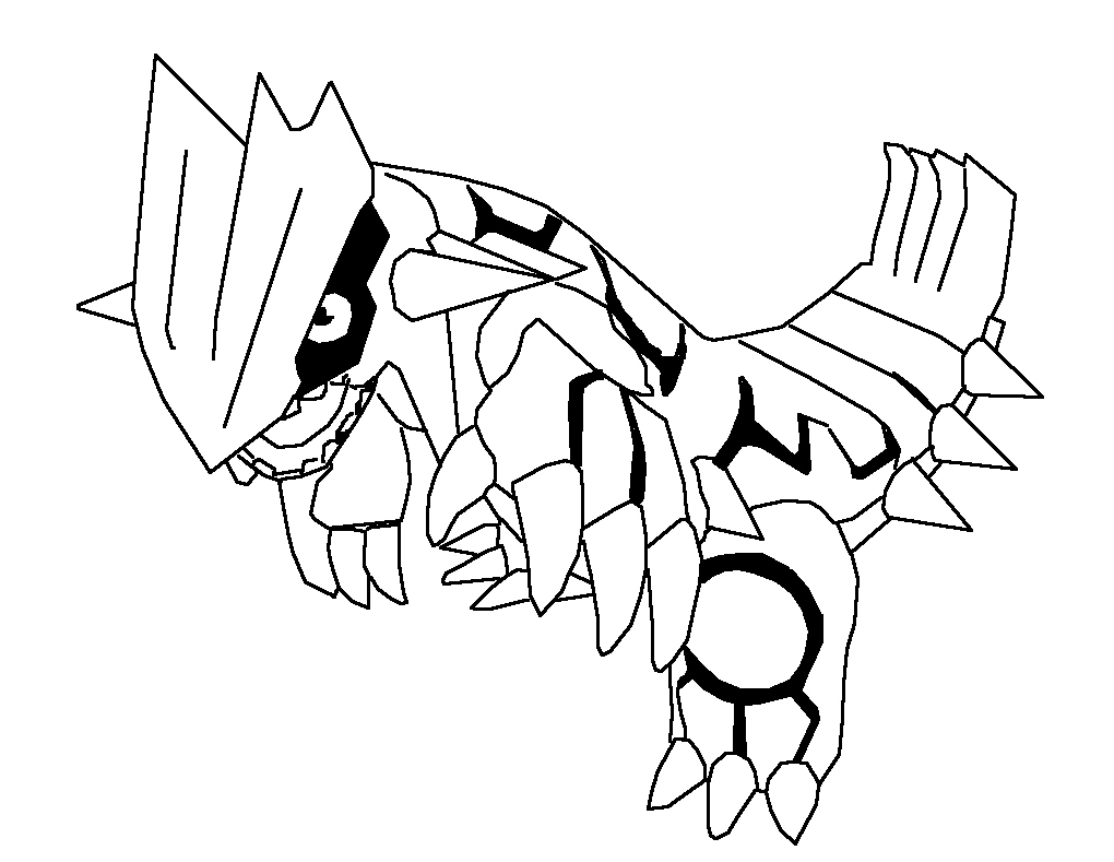Pokemon coloring pages swampert - Rayquaza Coloring Pages
