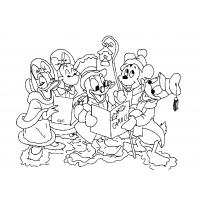 Mickey mouse christmas coloring pages