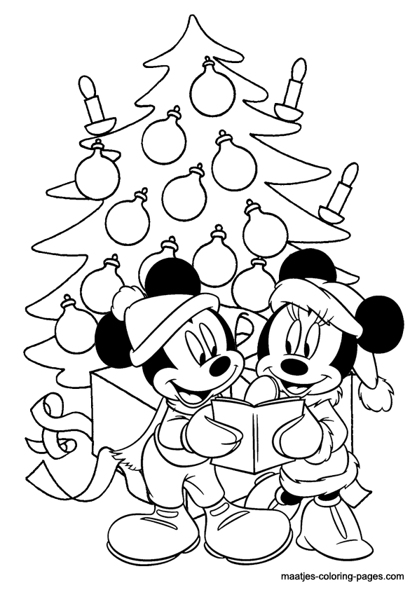 Mickey mouse christmas coloring pages for Free mickey coloring pages