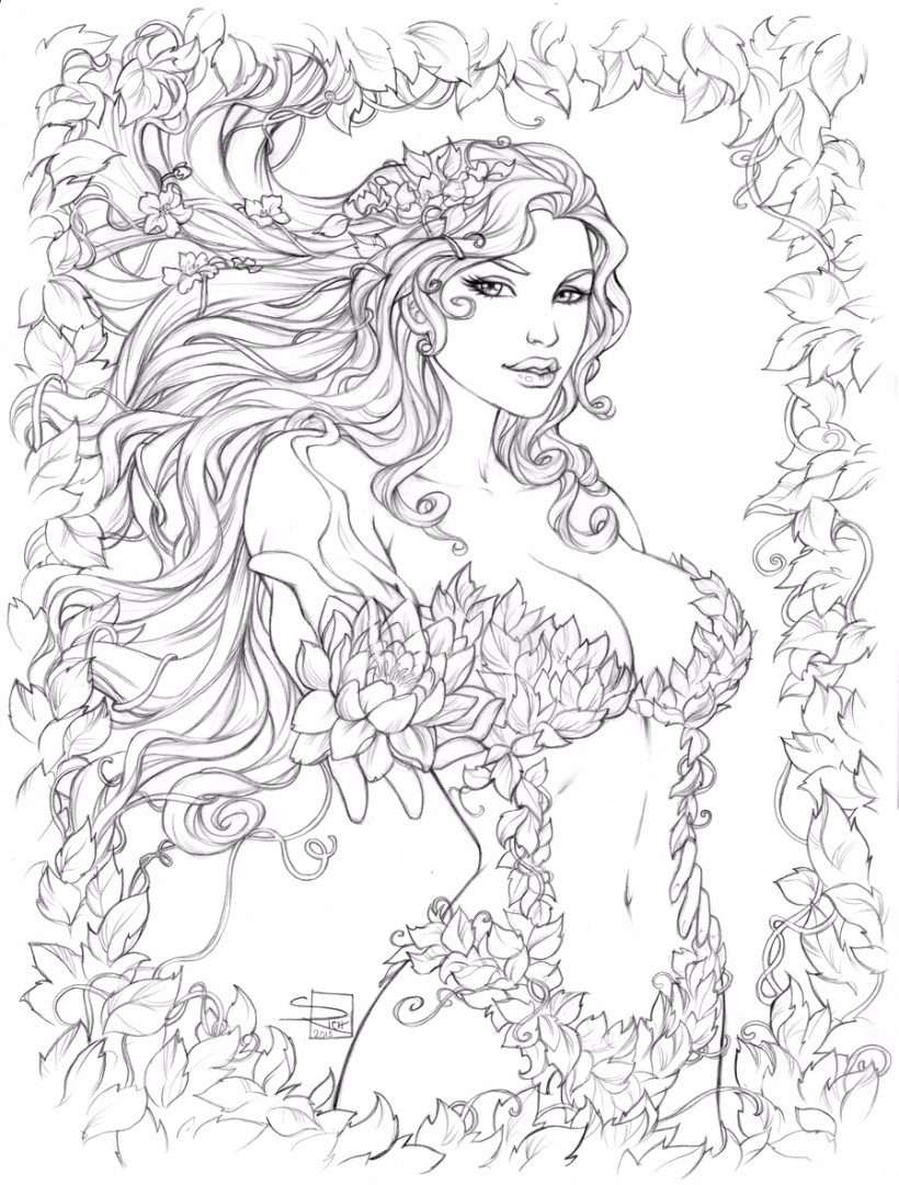 Princess ivy coloring page - Poison Ivy Coloring Pages