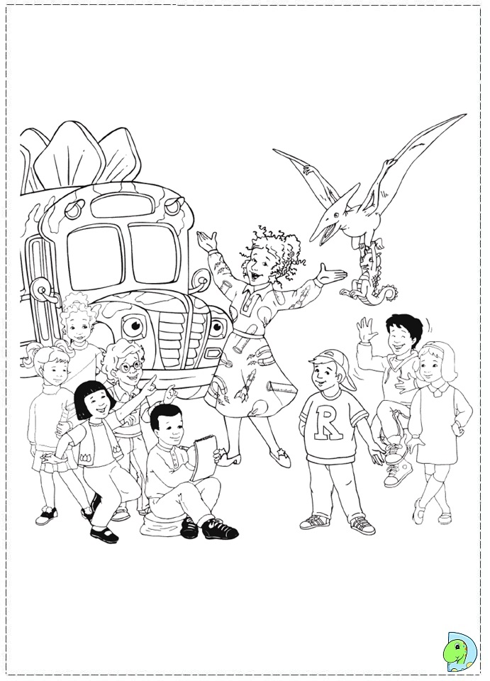 magic school bus coloring pages - Coloring Page Of A School