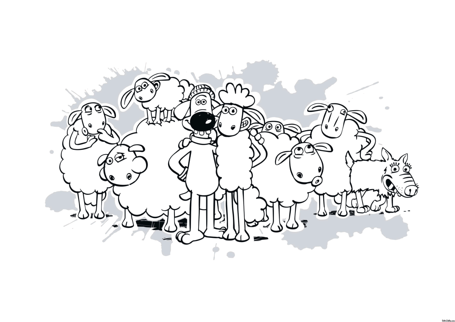 the sheep coloring pages