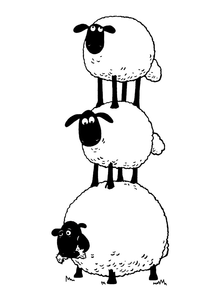 shaun the sheep coloring pages - Sheep Coloring Page
