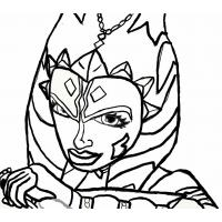 Ahsoka coloring pages
