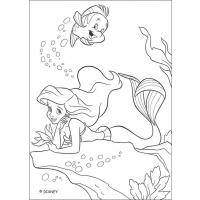 flounder coloring pages for girls | Flounder coloring pages