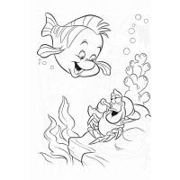 Flounder coloring pages
