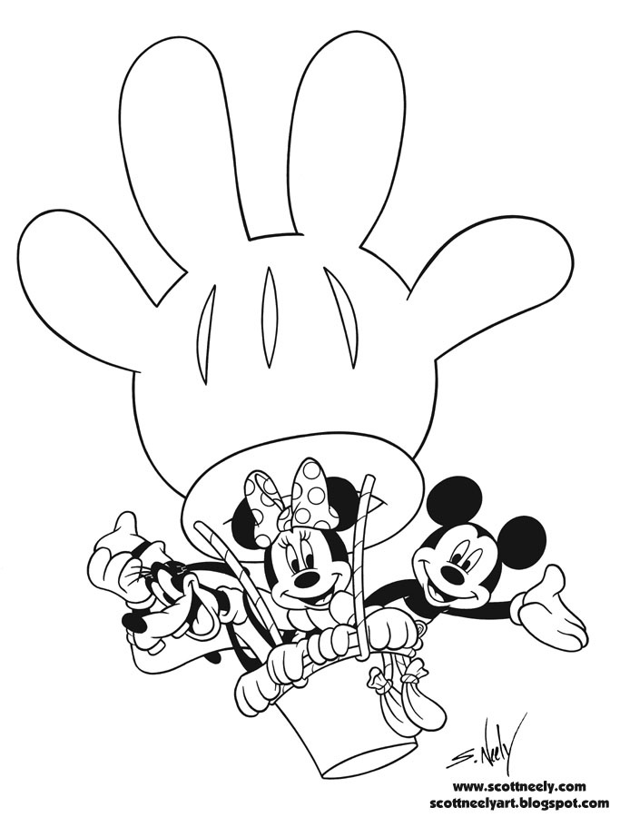 mickey mouse clubhouse coloring pages - Mickey Mouse Color Pages Print