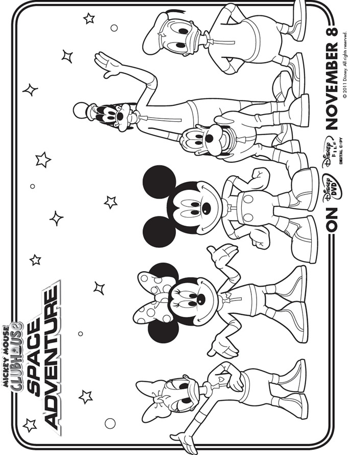 mouse clubhouse coloring pages