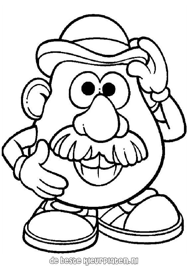Mr Potato Head Coloring Page Fair Potato Head Coloring Pages Decorating Inspiration