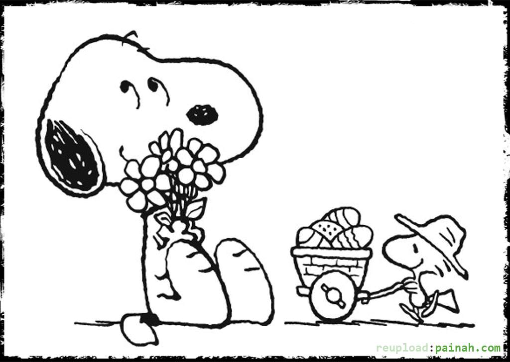 Charmant Snoopy Coloring Pages