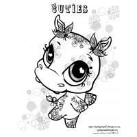Cutie coloring pages