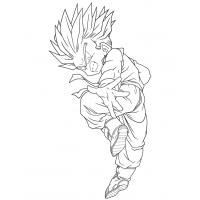 Goten super saiyan coloring pages