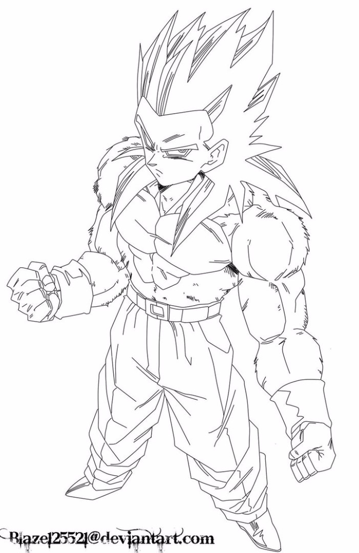 goten coloring pages - goten super saiyan coloring pages