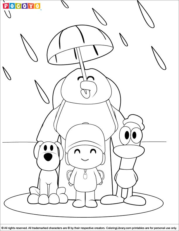pocoyo printable coloring pages - pocoyo coloring pages