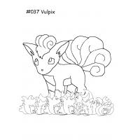 Vulpix coloring pages