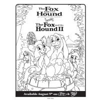 Fox and the hound coloring pages