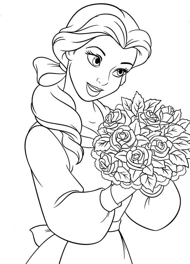 and the beast coloring pages