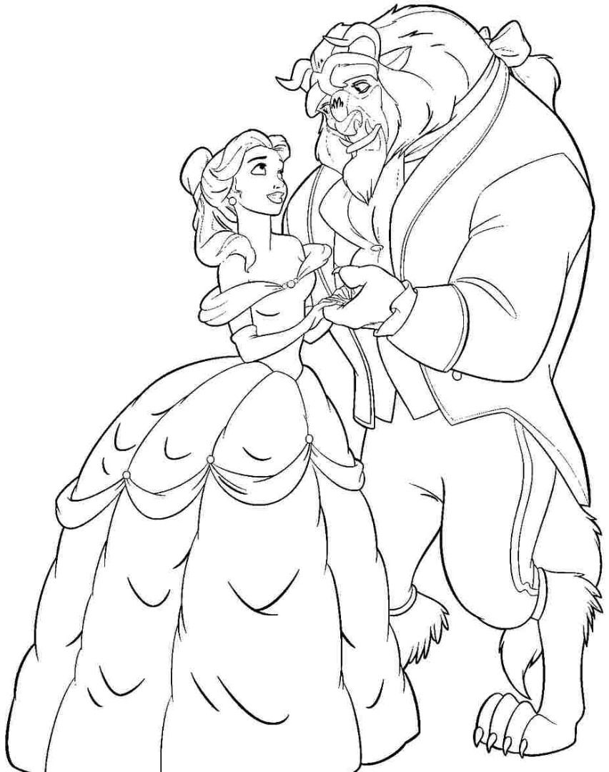 Beauty and the beast coloring pagesThe Beast Beauty And The Beast Coloring Page