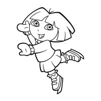 Dora and boots coloring pages