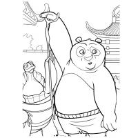 Kung fu panda coloring pages