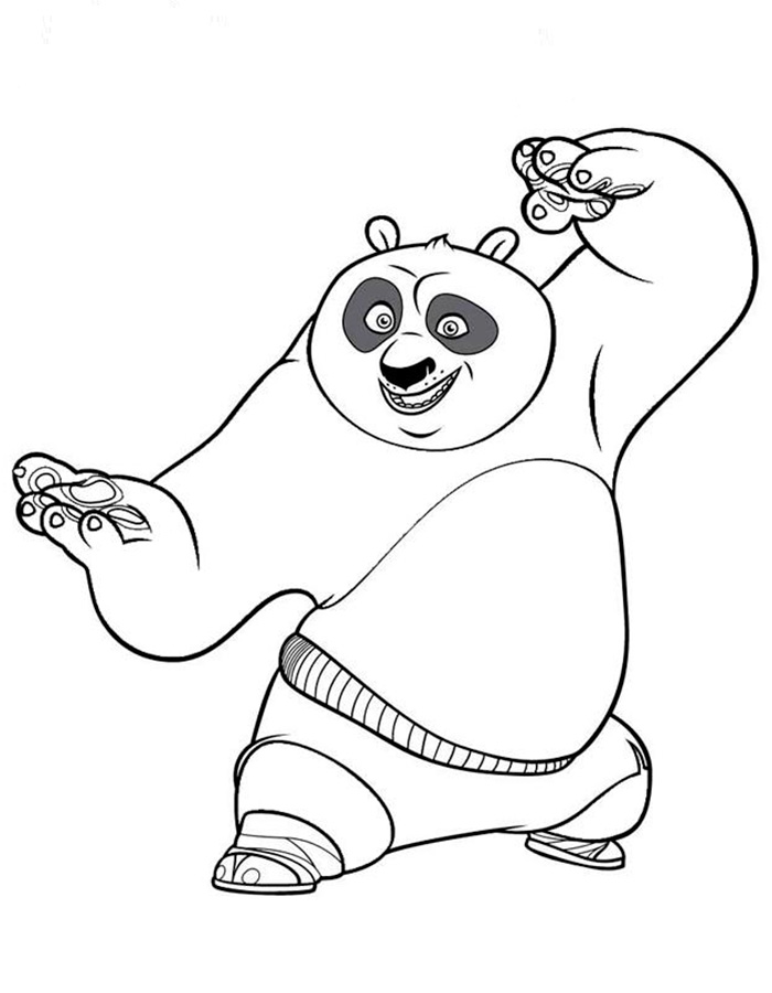 fu panda coloring pages