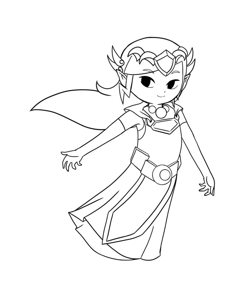 Coloring pages for zelda - Zelda Coloring Pages Zelda