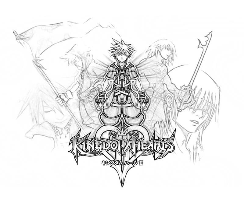 kingdom hearts coloring pages - Coloring Pages Hearts 2