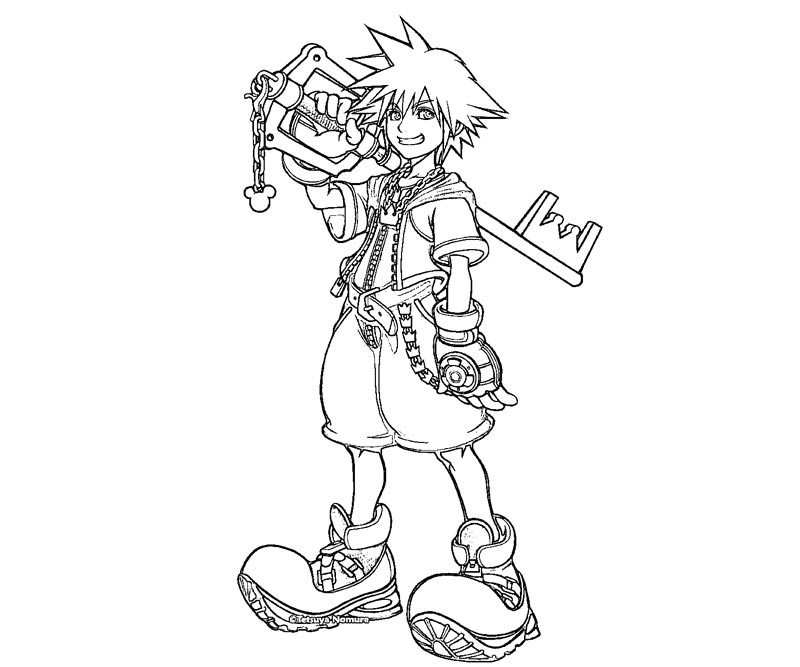 Kingdom Hearts Coloring Pages staruptalentcom