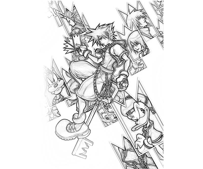 kingdom hearts coloring pages - Heart Coloring Pages Print