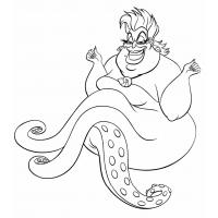 Ursula coloring pages