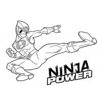 Red power rangers coloring pages