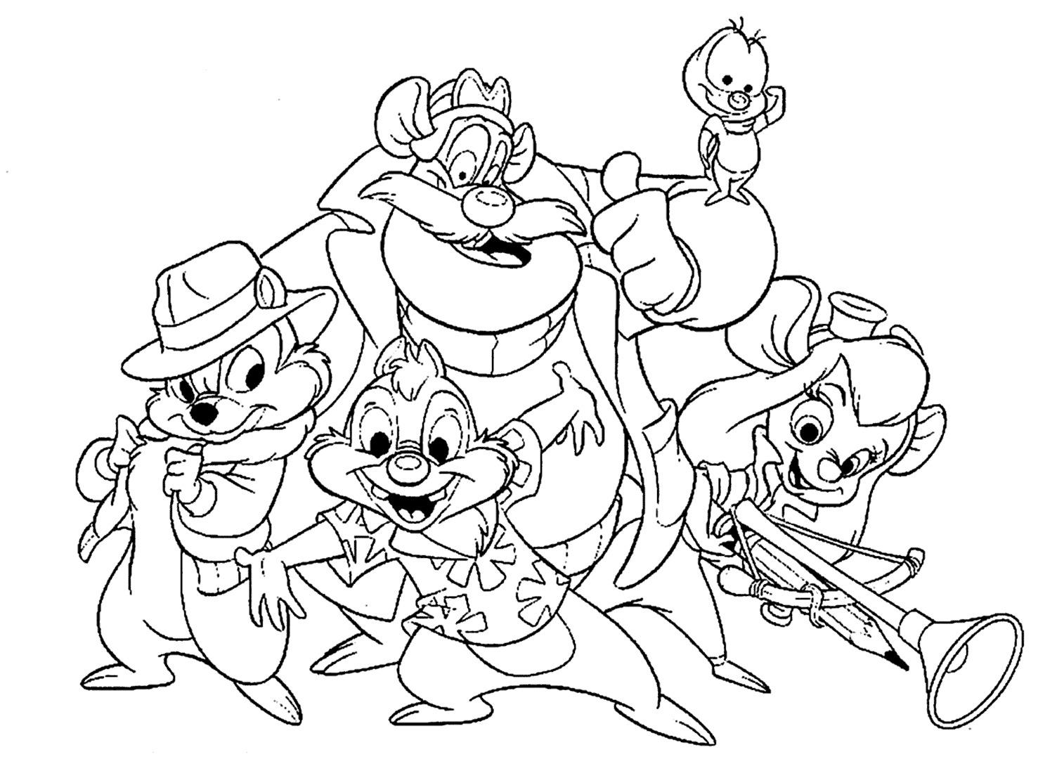 Chip and dale coloring pages