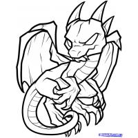Cartoon dragon coloring pages