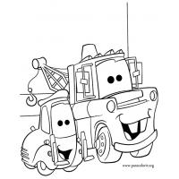 Mater coloring pages