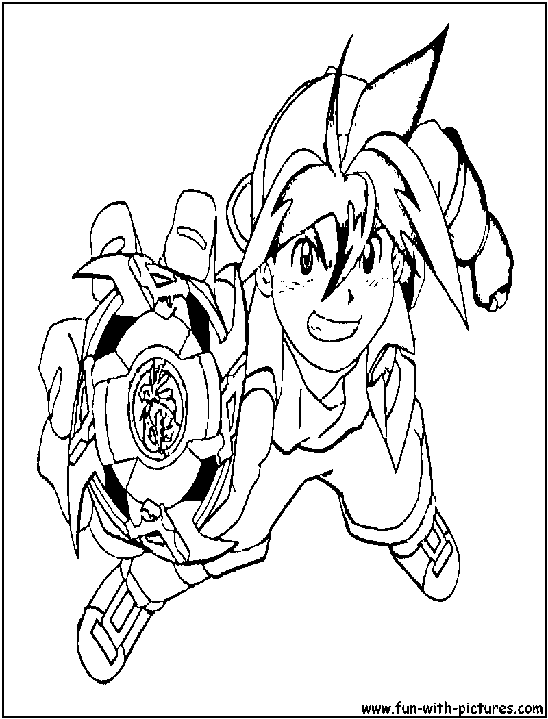 coloring pages - Beyblade Metal Fury Coloring Pages