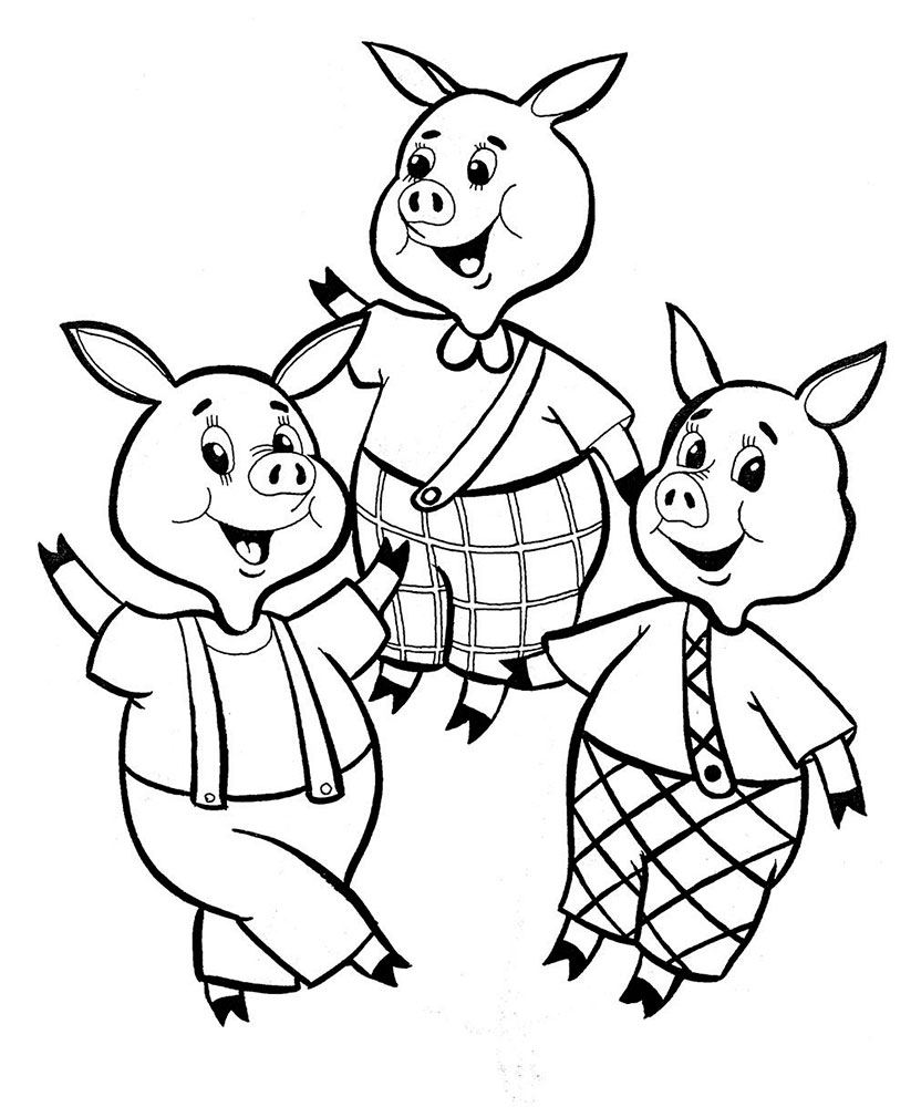 little pigs coloring pages