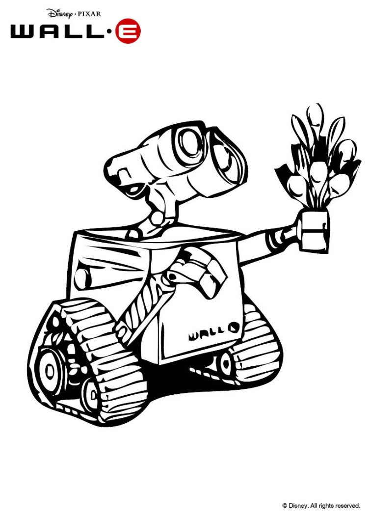 E Coloring Pages Wall E Coloring Page