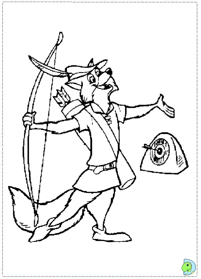 robin hood coloring pages - Robin Coloring Pages