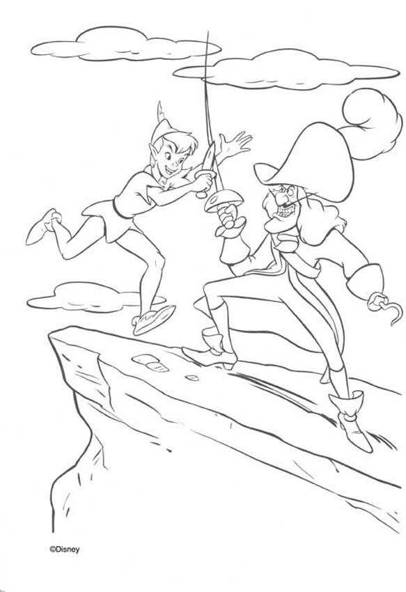 captain hook coloring pages - Peter Pan Mermaids Coloring Pages