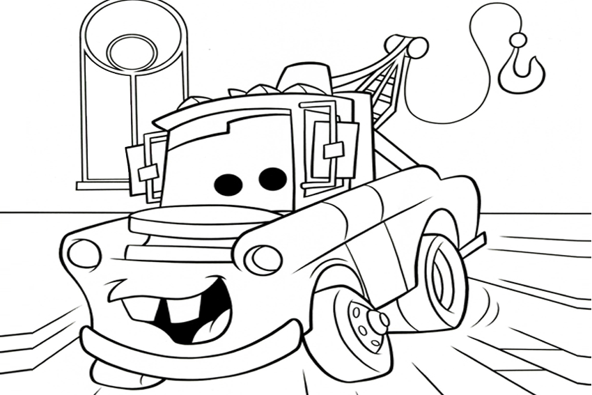 mater from cars coloring pages - Free Disney Cars Coloring Pages To Print