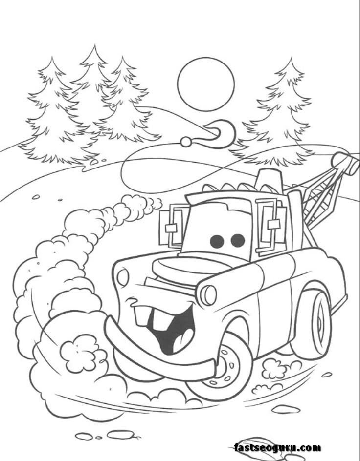 Mater From Cars Coloring Pages