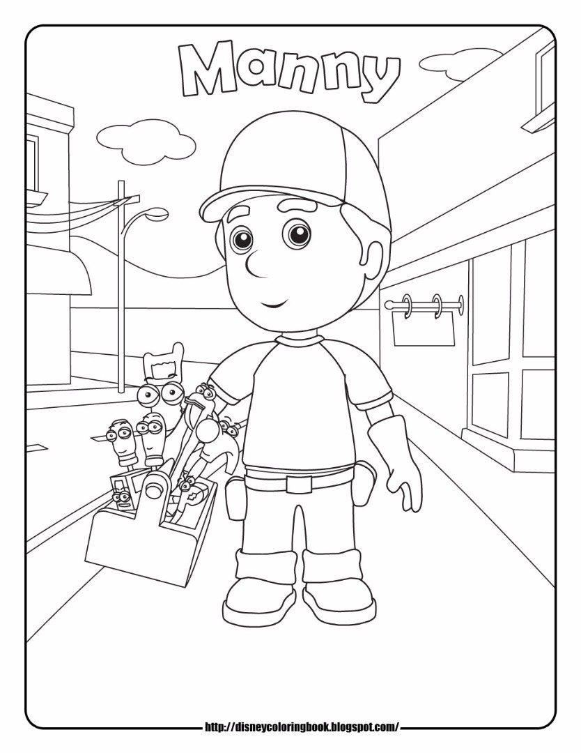 Handy Manny Coloring Pages Manny Coloring Pages