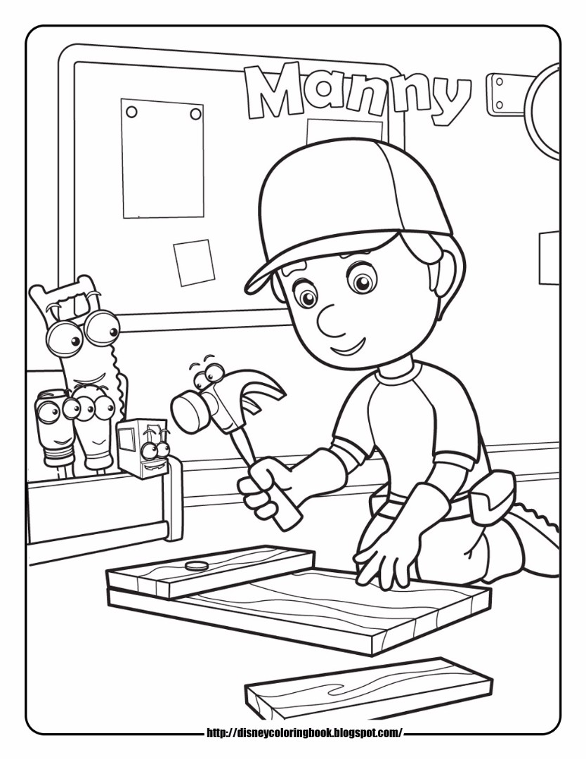 Handy Manny Coloring Pages - Handy-manny-coloring-page
