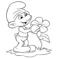 Papa smurf coloring pages